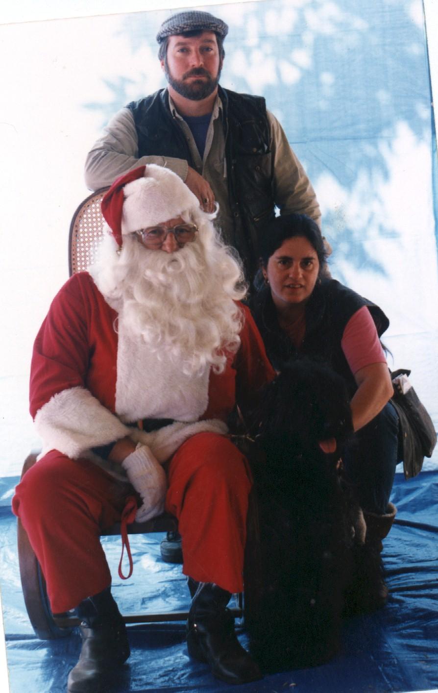 Pat, Santa, Cory & Scout, November 1994